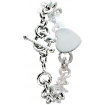 Tiffany Look!!!  Kette Silber Sterlingsilber 925/- ca. 1,5cm Breit, mit Herzanhänger und Knebelverschluss zum Gravieren
