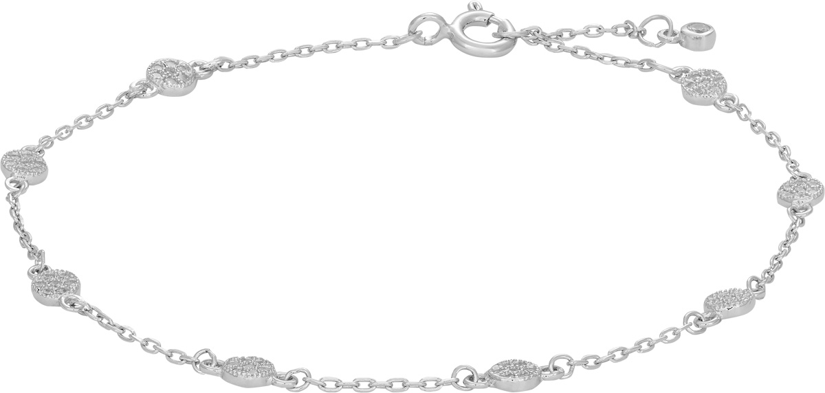 JOANLI NOR Armband ANNIENOR 845068 Silberarmband Zirkoniaarmband Silber rhodiniert, 17+3cm