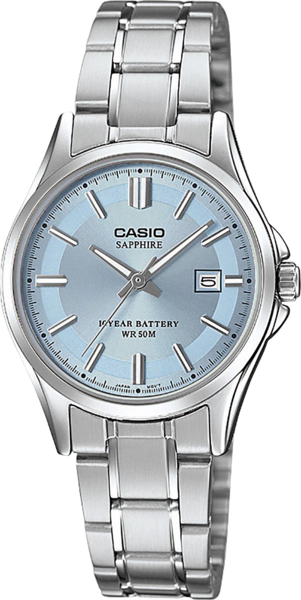 CASIO Damenuhr LTS-100D-2A1VEF Saphirglas Datum