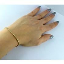 Tennis Armband - Goldarmband Gelbgold 585/- 84 Brillanten 1,00ct  TCR/P1_03