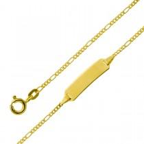 Armband mit Gravur - Gelbgold 333 Gravurplatte poliert massiv
