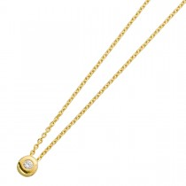 Brillant Kette in Gelbgold 585 mit  Brillant 0,05ct  W/P_053607