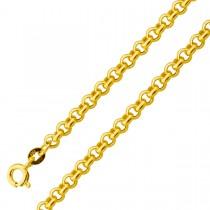 Armband Gelbgold 375 Erbskette halbmassiv