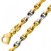 Kette Ankerkette mehrreihig Gelbgold Weißgold 585 halbmassiv
