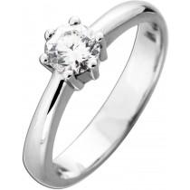 Funkelnder Diamantring Verlobungsring Weißgold 585 Brillant 0,65ct TW / Lupenrein