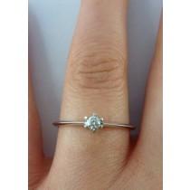 Verlobungsring Weißgold 585 Diamant 0,10ct W/SI Brillant Schliff