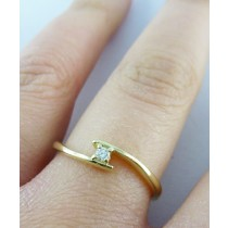 Ring in Gelbgold 585/- mit 1Brillanten 0,05ct W/SI - 077701500