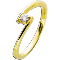 Verlobungsring Gelbgold 585 Diamant 0,10ct W/SI Brillant Schliff