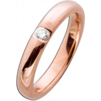 Ring  in  Rotgold 585/-  poliert mit 1 Brillanten 0,10ct  077718500