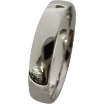 feiner Trauring in Weissgold 750/- hochglanzpoliert,4x1,3mm, leicht bombiert für angenehmes tragen (Default)