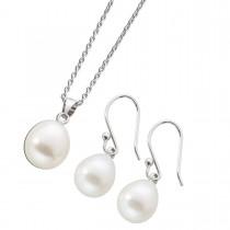Perlenkette - Schmuckset Kette Perlencollier Ohrhänger Sterling Silber 925 Süsswasserzuchtperlen_1
