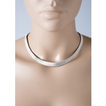 Collier geflochtene Drahtkette Sterling Silber 925