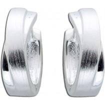 Ohrringe - Klappcreolen Sterling Silber 925