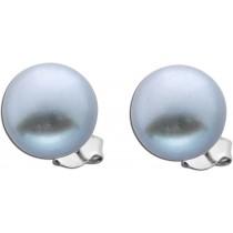 Ohrringe - Ohrstecker 925 Sterling Silber 2 Süßwasserzuchtperlen grau