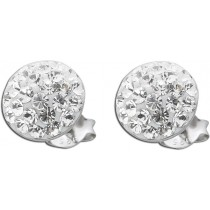 Ohrringe - Märchenhafte Kristall Ohrstecker 22 Kristallen Silber 925