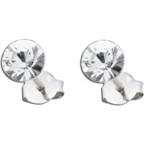 Ohrringe - Swarovski Elements Ohrstecker Silber 925 klar Crystal Blue