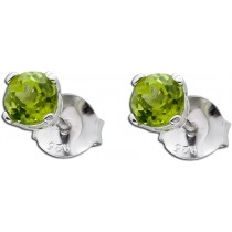 Ohrringe - Peridot Ohrstecker Sterling Silber 925