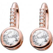 Ohrringe - Ohrhänger Sterling Silber 925 roségold vergoldet Zirkonia