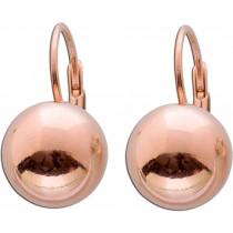 Ohrringe Ohrhänger Sterling Silber 925 Kugel rosévergoldet Ø 12mm