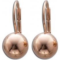 Ohrringe - Ohrhänger Kugel in Silber Sterlingsilber 925/-,   rosevergoldet 267029200