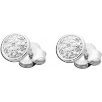 Ohrringe - Ohrstecker aus rhodiniertem Silber Sterlingsilber poliert mit 10 Diamanten 267172100