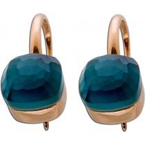 Ohrringe - Ohrhänger Sterling Silber rose vergoldet Perlmuttplatte Zirkonia