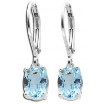 Ohrringe Ohrhänger Sterling Silber 925 Blautopas