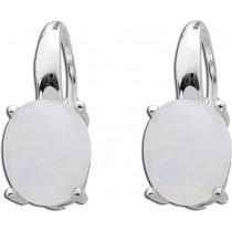 Ohrringe Ohrhänger T-Y Sterling Silber 925 regenbogenfarbener Mondstein