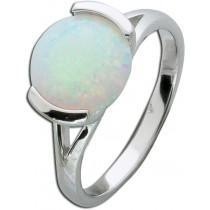 Opalring Sterling Silber 925 Ring Opal hochglanzpoliert rhodiniert.