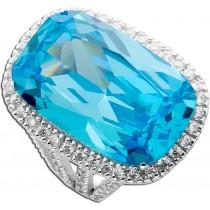 Zirkoniaring - Silberring Sterling Silber 925 opulent