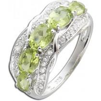 Ring Sterling Silber 925 mit Peridot und weißen Topasen_277898