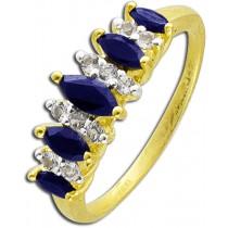 Ring in Silber Sterlingsilber 925 Safiren und weiße Topas-277960_1