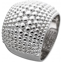 Ring Silber 925 Kugeloberfläche