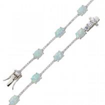 Armband - Opalarmband Sterling Silber 925 Zirkonia poliert