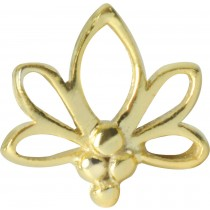 Medusa Piercing Bioplast Sterling Silber 925 Aufsatz Labret Lotus Blatt gold PVD