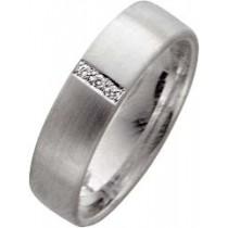 Trauringe Weißgold 585 Diamant Brillantschliff 0,03ct W/SI