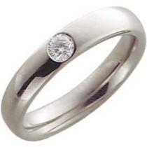 EheringTrauring in Palladium 585/-,echten Brillanten. 0,15ct W/SI, Breite 4,0mm, Stärke 2,1mm, der Ring ist poliert, die Gravur der Trauringe sowie das Etui erhalten Sie kostenlos und bei diesen einfarbigen Trauringen - Eheringen ist auch der kostenlose A