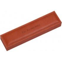 Armband / Kettenetui aus Nubuk mit Schaumstoffeinlage, LxBxH 220x53x32 mm. Erhältlich bei Abramowicz, dem Juwelier Ihres Vertrauens seit 1949, aus Stuttgart, Rotebühlstr. 155