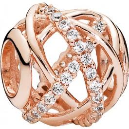Pandora Charm Rose 781388CZ rose vergoldet Galaxie klare Cubic Zirkonia