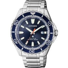 Citizen Uhren BN0191-80L Eco Drive Taucheruhr 20bar Edelstahl blau