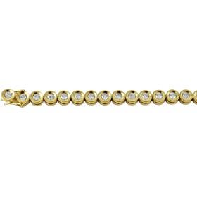 Tennis Armband - Gelbgold 750/-34 Brillanten 3,00ct W/P