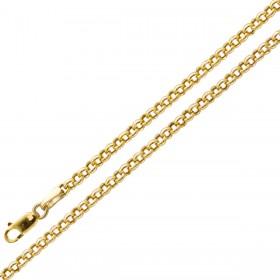 Erbskette - Gelbgold 375 halbmassiv