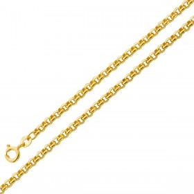 Ankerkette Gelbgold 375 halbmassiv