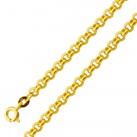 UNO A ERRE Armband Gelbgold 375 Erbskette halbmassiv