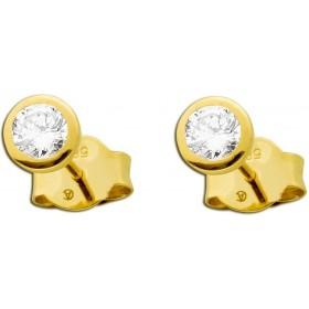 Ohrringe - Solitär Ohrstecker Gelbgold 585 2 Diamanten Brillantschliff  zus. 0,35ct TW / LP Lupenrein