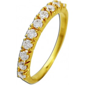 Ring Gelbgold 333 Zirkonia Memoire Ring