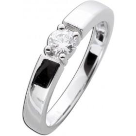 Diamantring Verlobungsring Weißgold 585 - 1 Brillant 0,25ct TW / Lupenrein
