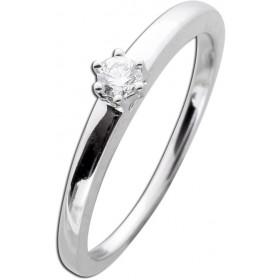Diamantring Weißgold 585 0,10ct TW / Lupenrein Brillant Schliff