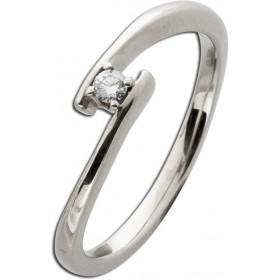 Verlobungsring Weißgold 585 Diamant 0,05ct W/SI Brillant Schliff