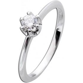 Verlobungsring Weißgold 585 Diamant 0,20ct W/SI Brillant Schliff